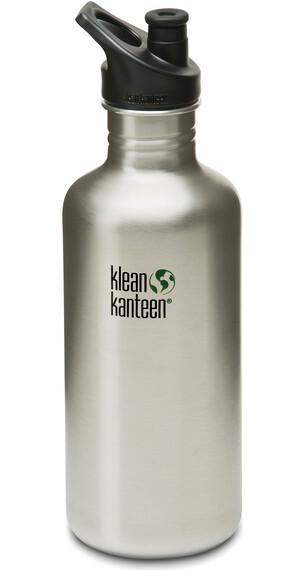 Klean Kanteen Classic Drinkfles met Sport Cap, 1182 ml zilver